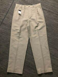 Greg Norman Mens 32 X 29 Pleated Cuff Pants Bleige