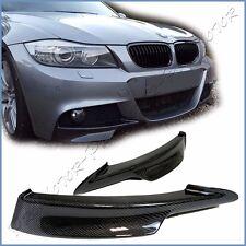 For E90 E91 LCI BMW 09-11 325i 335i M-Tech Front Bumper Pair Splitter Lower Wing