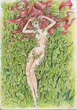 A00651 Poison Ivy by F.M. *NOT A PRINT* original art drawing marvel comics