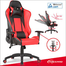 Racing Gaming Office Chair Adjustable Swivel with Free Headrest & Backrest