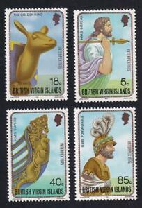 British Virgin Islands 1975 sc#280-283 INTERPEX Ship Figureheads, MNH set  [92]