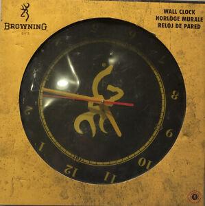 BROWNING BUCKMARK WALL CLOCK BLACK/YELLOW