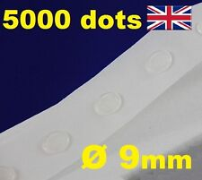 5000 Pegamento Dots Sticky Craft Transparente tarjeta haciendo chatarra extraíble 9mm fácil Tack