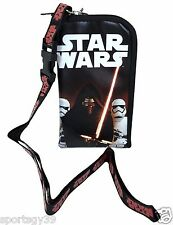 Disney Star Wars Black WALLET LANYARD phone CASE Necklace Kylo Ren Force Awakens