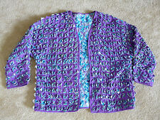WOMAN'S JACKET ARTSY COLORFUL PERFECT FOR FALL FITS XL TO PLUS