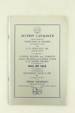Abner Kreisberg Vreeland Fraser, Wallace Collection Vintage Auction Coin Catalog