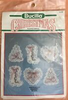 Bucilla Christmas Lace Ornaments Set Of 6 Plastic Canvas Kit 61130 NIP