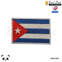 CUBA National Flag Embroidered Iron On Sew On Patch Badge For Clothes etc