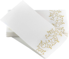 Simulinen Guest Towels for Bathroom - Gold Floral - Disposable Paper Towels - Bo