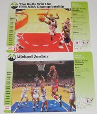 1997/98 Grollier Michael Jordan Life in America 2-Card Basketball Jumbo Lot Rare