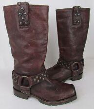FRYE Women's Heath Disc Harness Boot Dark Reddish Brown Boot Size 5.5 $358+