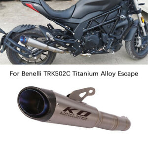 For Benelli TRK502C Motorcycle Exhaust Pipe Titanium Escape Mid Slip On Catalyst