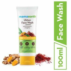 Face Wash with Turmeric & Saffron For Dry Skin Mamaearth Ubtan Natural, 100 ml