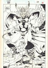 Guardians of the Galaxy #41 p.30 - Thor End Page Splash - 1993 art by Kevin West