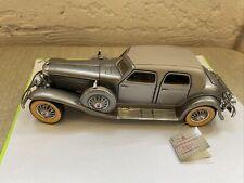 Franklin Mint 1933 Duesenberg SJ Twenty Grand with PAPER TAG