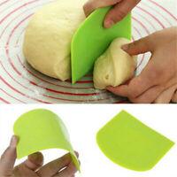 Useful Trapezoid Cookies Cutter Dough Scraper Spatula Baking Cake Bread Tool AU