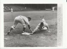 1942 Wire Photo Ted Williams Picked off at First-Dick Siehert makes the putout