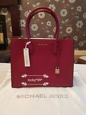 Michael Kors Mercer Large Leather Tote Cherry Red *BNWT*