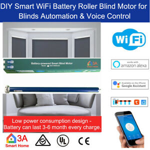 Smart WiFi Blinds Motor -Battery Run DIY Roller Blind  25 / 28mm Tubular Motor