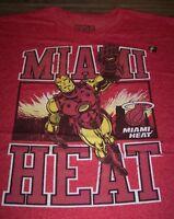 MIAMI HEAT NBA IRON MAN MARVEL COMICS T-Shirt 3XL XXXL NEW