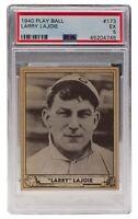 Larry Lajoie Phillies 1940 Play Ball #173 Baseball Card EX 5 Slabbed PSA