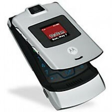 Motorola V3m RAZR Flip Cell Phone (VERIZON) MOTORAZR Camera~ Clean ESN~ Silver