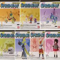 New Pokemon Scale World Galar Region 1/20 Figures - Grookey Thwackey Scorbunny