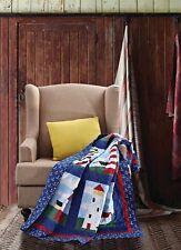 "50"" x 60"" Virah Bella Quilted Throw Light House Super Soft Blanket Phyllis Dobbs"