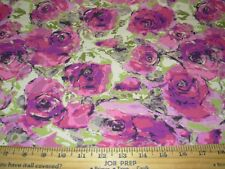 "~12 6/8 YDS~REGAL""MODERN FLORAL"" DRAPERY UPHOLSTERY FABRIC FOR LESS~"