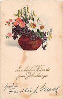 BG4203  geburtstag birthday lilly  flower  germany  greetings