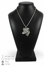 Jack Russel Terrier - silver plated pendant with silver cord, Art Dog IE