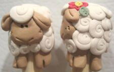 Bamboo SP knitting needles with WHITE SHEEP US 1-15 single point designer u pick