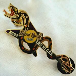 Hard Rock Cafe - Rattle Snake Guitar Pin - Butterfly Series #8 2006 Lax - L/E