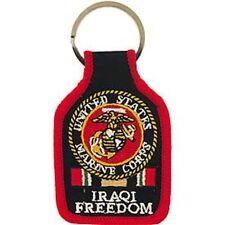 U.S.MARINE - IRAQI FREEDOM - EMBROIDERED KEY RING - BRAND NEW