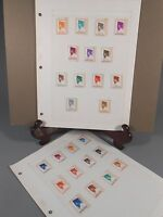 Lot 2 Pages of President Sukarno Indonesia Postage stamps 1966-67