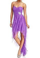 NWT Sexy  Lavender Hi-Low  Prom Gown Evening - Dance  Dress. 9 (M-L)