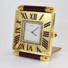 luxus4life: Cartier Pendulettes Voyage QUADRANT Grenat/Garnet / Traumhaft