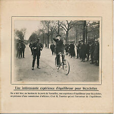 PARIS c. 1910 - Equilibreur Bicyclette Tourtier Tir Carabine - 72