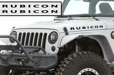 Custom Jeep Wrangler Willy's Hood Decal - Rubicon - Matte Black Vinyl Both Sides