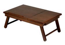 Lap Desk Drawer Home Kitchen Serveware Brown Winsome Alden Wood Folding Tabletop