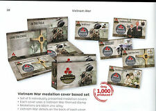 2016 Vietnam War medallion cover boxed set 922/1000. Contains 5 medallion covers