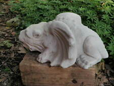 "13"" Long Cement Crouching Gargoyle Garden Art Concrete Statue Asian Dragon NICE!"
