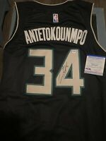 Giannis Antetokounmpo Signed Autographed Milwaukee Bucks Jersey! PSA/DNA COA