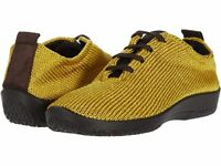 Arcopedico Women's LS Knit Lace-Up Lightweight Vegan Shoes - Mustard
