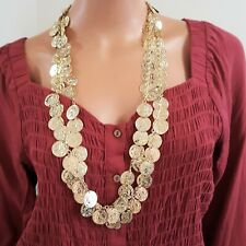 BOHO GOLD PLATED COIN NECKLACE OR BELT