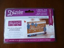 """NEW - CRAFTERS COMPANION - 5X2"""" CREATE-A-CARD """"PEACE ON EARTH"""" -CHRISTMAS DIE -"""