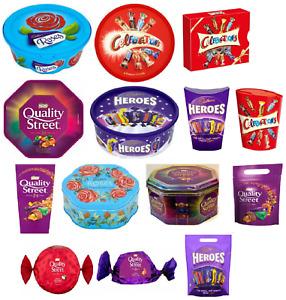 Celebration / Heroes /Roses / Quality Street - Tub Chocolates Tin Christmas Gift