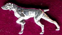Pewter Gundog German Shorthaired Pointer  Brooch Pin