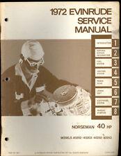 1972 EVINRUDE OUTBOARD  40HP SERVICE MANUAL / 40202, 40203, 40252, 40253