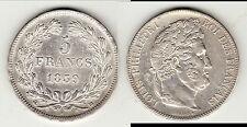 SUPERBE 5 FRANCS LOUIS PHILIPPE 1839 BB cote 650 EURO SUP B1 T5